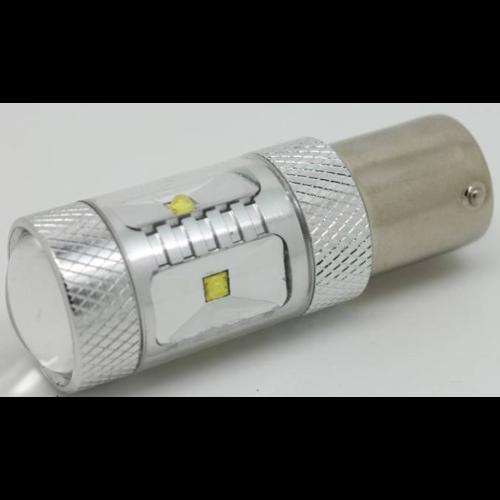 BAY15D-1157-30W 6st Epi-Star LED met lens (Dagrijverlichting / breedstraler)