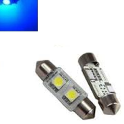 C5W 31MM 2X 5050SMD LED Blauw