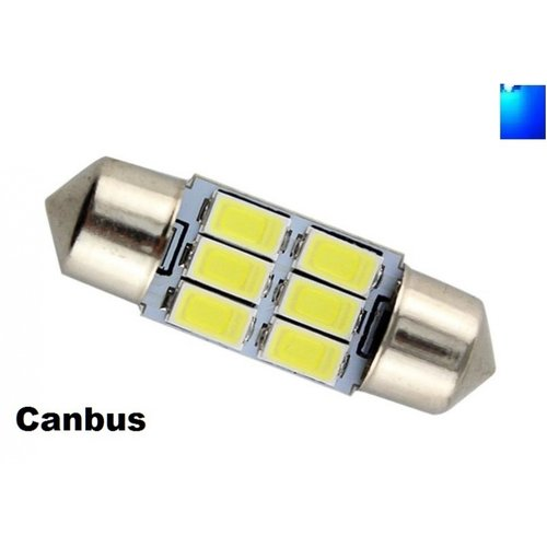 C5W Festoon 31mm 6x 5730SMD LED Canbus blauw