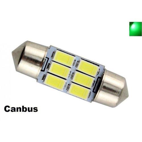 C5W Festoon 31mm 6x 5730SMD LED Canbus Groen
