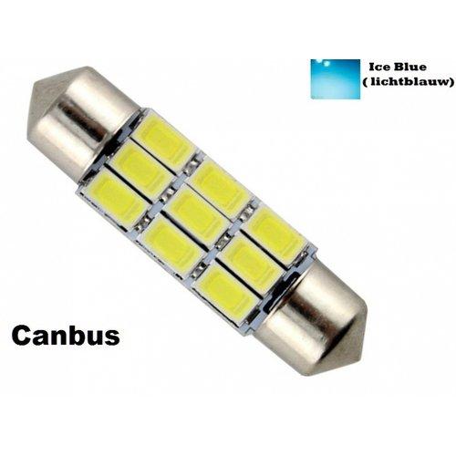 C5W Festoon 36mm 9x 5730SMD LED Canbus Ice Blue ( licht blauw)