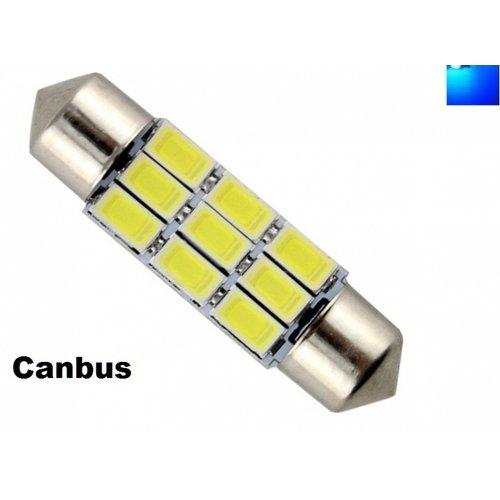 C5W Festoon 39mm 9x 5730SMD LED Canbus blauw