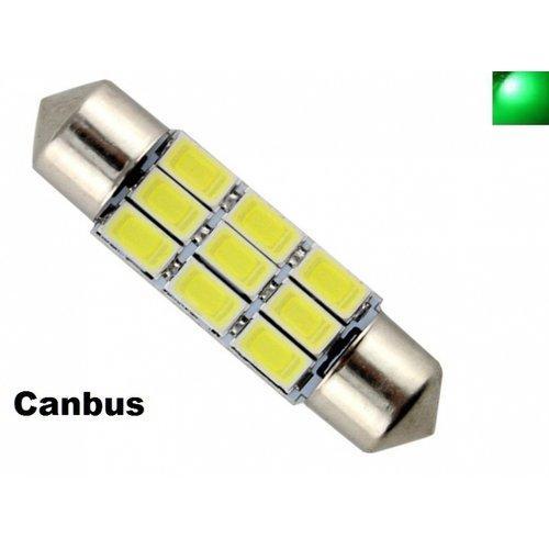 C5W Festoon 39mm 9x 5730SMD LED Canbus Groen