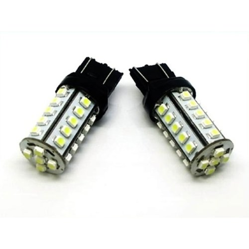 Duplo: 3157 (T25) 30x led 5050 smd rem ?®n achterlicht in ?®?®n fitting (wit)