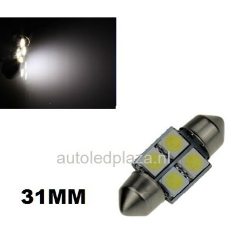 Festoon 4 smd 5050 LED 31mm xenon wit