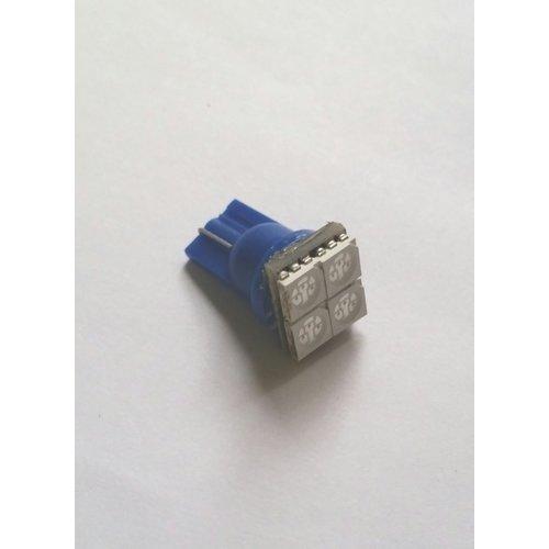 T10 4x 5050SMD LED blauw