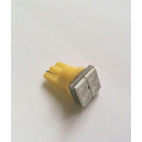 T10 4x 5050SMD LED geel/ amber