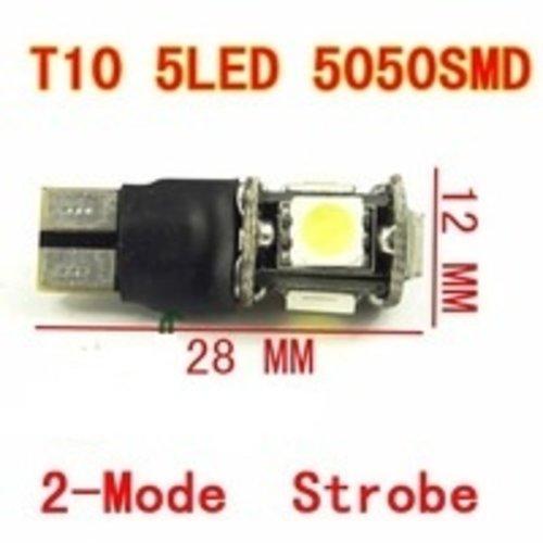T10 5x 5050smd Flash LED