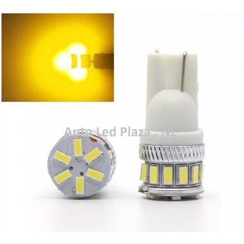 T10 W5W 18x 3014SMD geel amber ( super fel)