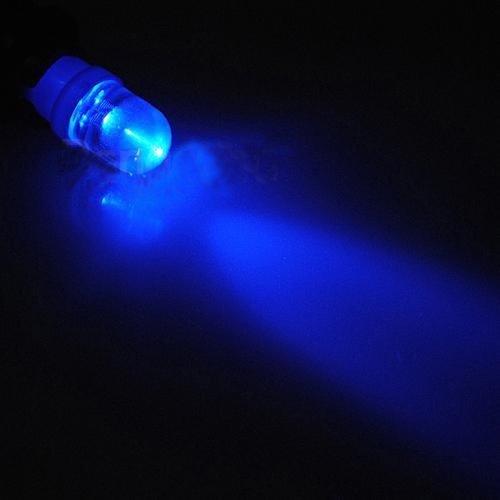 T10 W5W 1x LED bol licht : blauw