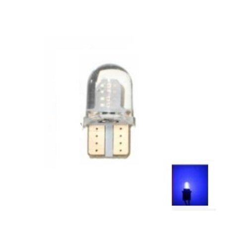 T10 W5W 2x 0,5W high power COB siliconen LED blauw