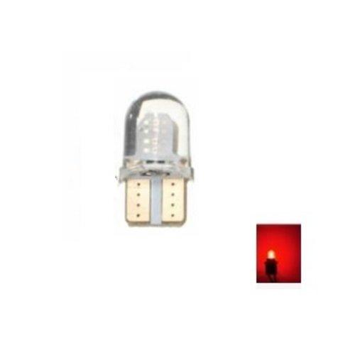 T10 W5W 2x 0,5W high power COB siliconen LED rood