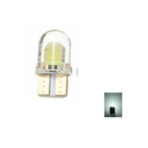 T10 W5W 2x 0,5W high power COB siliconen LED wit