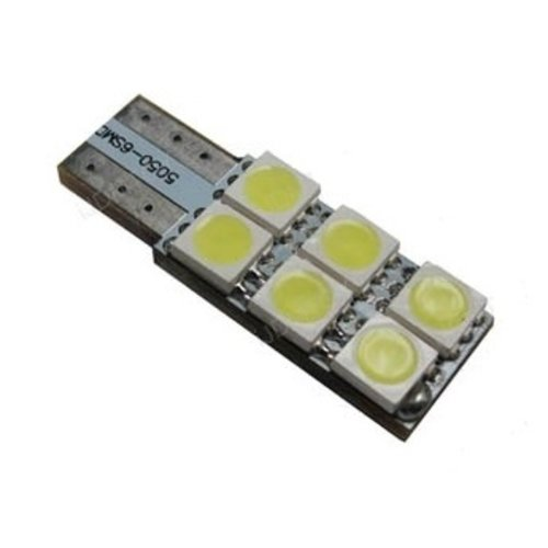 T10 W5W 6x 5050SMD LED Canbus Xenon wit, 1 zijdig non-polarized