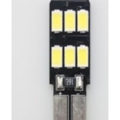 T10 W5W 6x 5730 SMD CanBus LED eenzijdig