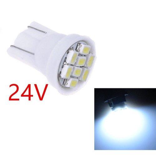 T10 W5W 8x 1210SMD LED 6000K xenon wit 24V