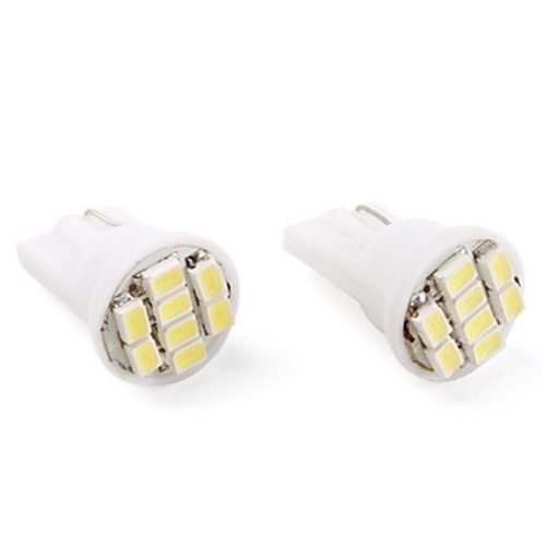 T10 W5W 8x LED SMD 1210 geel/amber