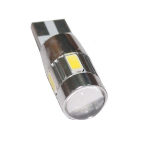 T10 W5W Canbus 6x 5630SMD LED met ring incl.lens  non polarizerend
