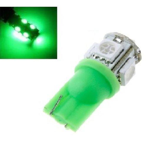 T10 W5W led 5x 5050 SMD LED groen
