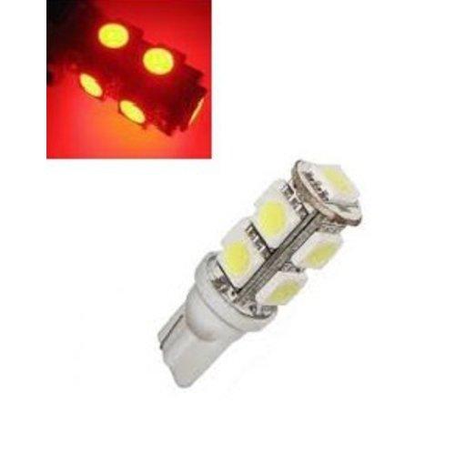 T10 W5W led 9x 5050 SMD LED rood