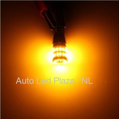 T10 W5W 3014SMD 36x LED Geel Amber