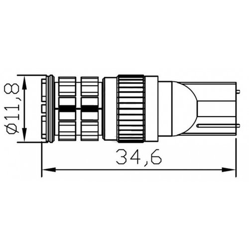 T10 W5W 3014SMD 36x LED Rood