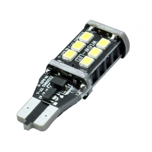 Samsung LED T15 W16W 15x 2830 SMD Samsung LED CanBus 9~30V AC (speciaal voor achteruit rijlicht)