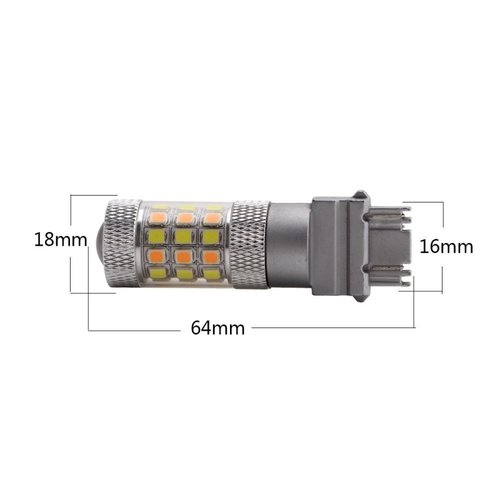 T25 3157 Dual color (wit/geel) 40x 2835 SMD LED