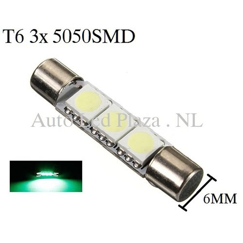 T6 31MM LED buislamp Groen