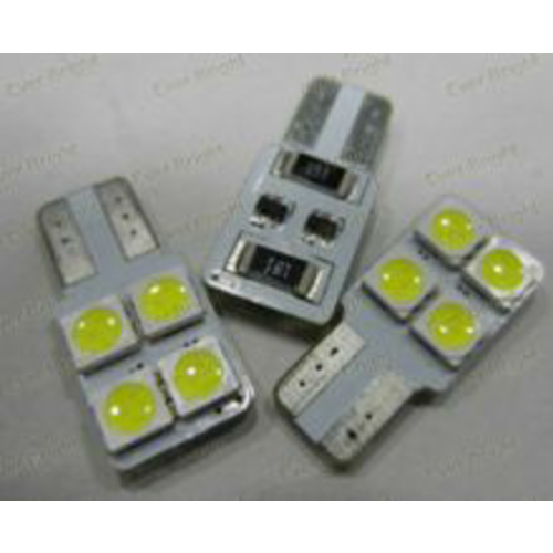 W5W T10 Canbus 4x 5050SMD LED eenzijdig