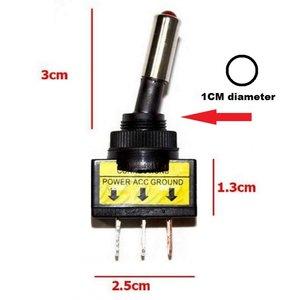 12V 20A LED tuimel schakelaar aan/uit kleur: blauw