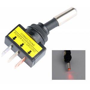 12V 20A LED tuimel schakelaar aan/uit kleur: rood