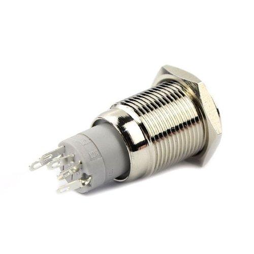 12V LED druk schakelaar 16mm angle eye groen