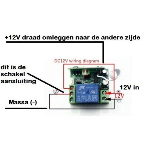 Aan-uit remote switch incl afstandbediening en ontvanger