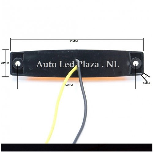 24V Oranje zijmarkering 6x LED unit