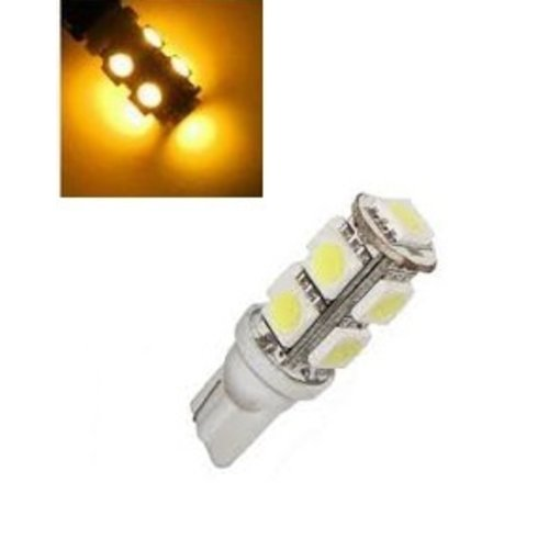 24V T10 W5W led 9x 5050 SMD LED  geel/amber