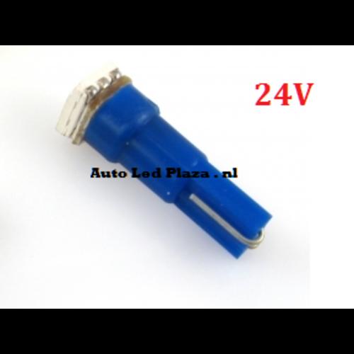 24v T5 1x 5050smd LED blauw