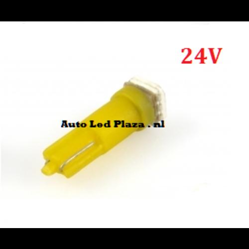 24V T5 1x 5050smd LED geel