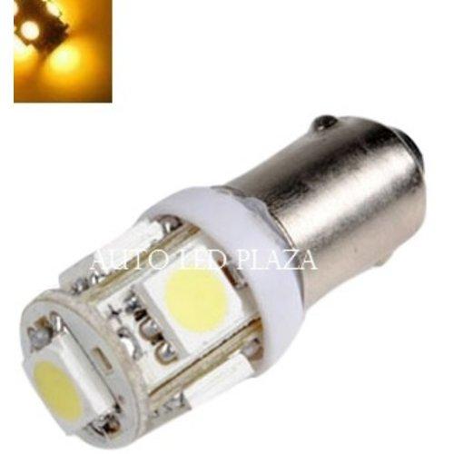 BA9S 24Volt LED 5X 5050SMD LED Geel / Amber