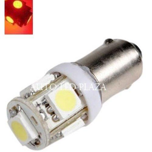 BA9S 24Volt led 5X 5050SMD LED Rood