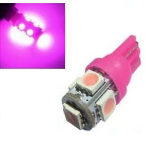 T10 W5W 24Volt led 5x 5050 SMD LED Roze (pink)