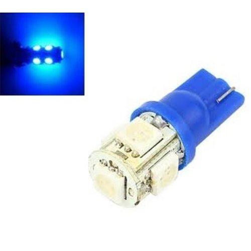 6V T10 W5W led 5x 5050 SMD LED Blauw