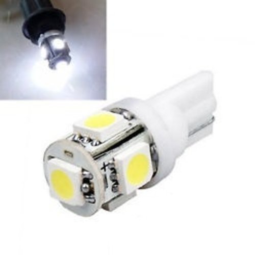 6V T10 W5W led 5x 5050 SMD LED Wit