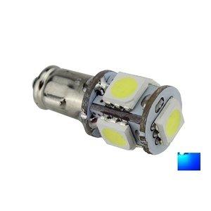 BA7S 5X 5050SMD LED Blauw 6V