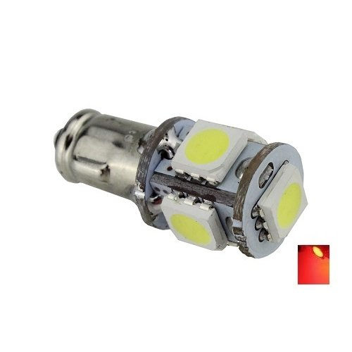 BA7S 5X 5050SMD LED rood 6V