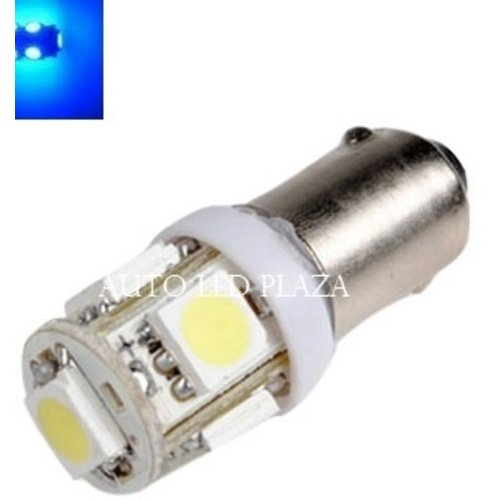 BA9S / T4W 6 Volt LED 5X 5050SMD LED Blauw