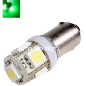 BA9S 6 Volt LED 5X 5050SMD LED Groen
