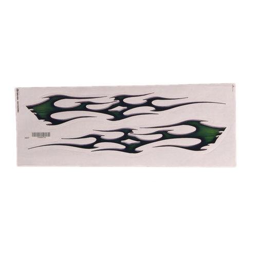 2x dark green trible sticker (links en rechts)