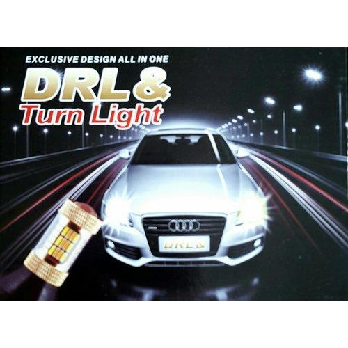 DRL / knipperlicht switchback set gold series (T20 aansluiting..!!)