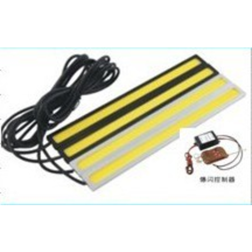 DRL COB LED met strobe / flash functie incl. afst. bediening